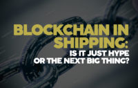 Block chain in shipping